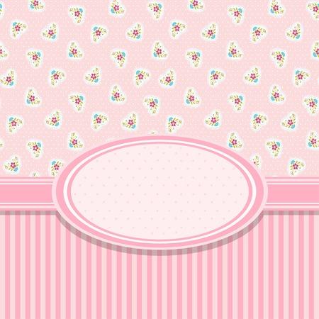 white party: Roze uitnodiging kaart voor baby shower, bruiloft of verjaardagsfeest Stock Illustratie