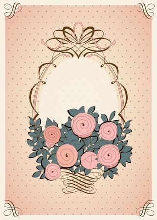 Uitstekende achtergrond met rozen