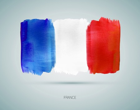 France hand painted national flag