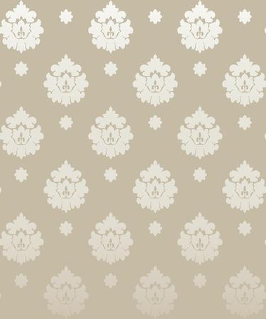 Damask vintage floral seamless  pattern background, vector  illustration. Vector