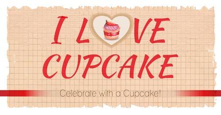 cappucino: Cupcake ontwerp achtergrond. Vector kaart