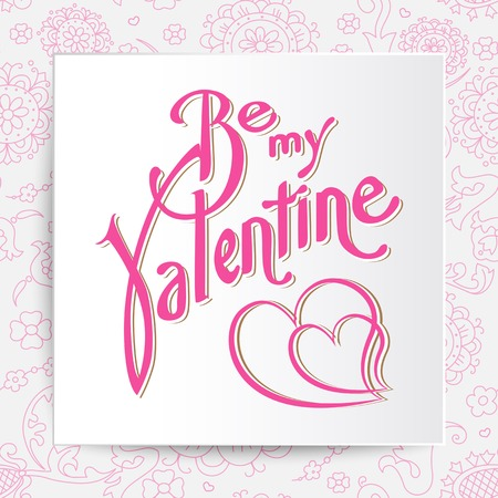 Be mine valentine. Vector