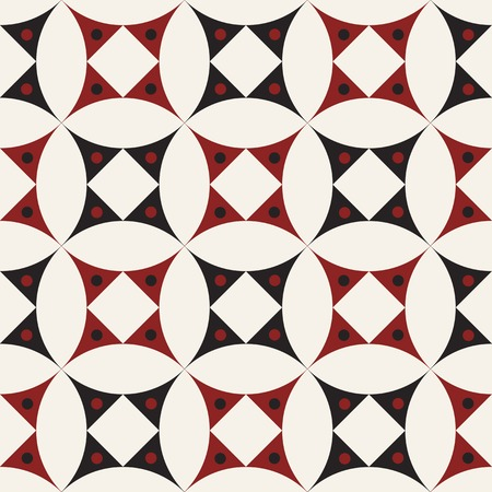 Modern stylish texture. Repeating geometric tiles with dotted rhombuses