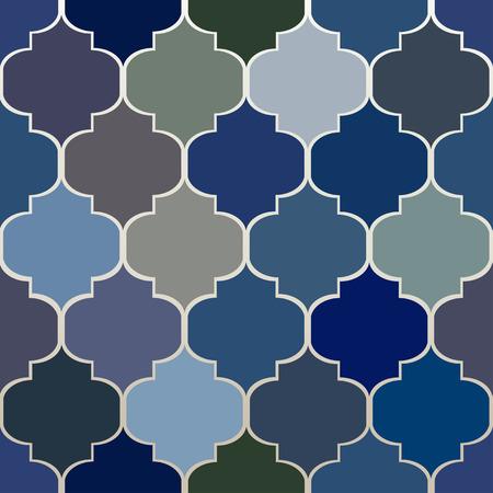 Sier patroon. Naadloze Marokkaanse achtergrond. Stock Illustratie
