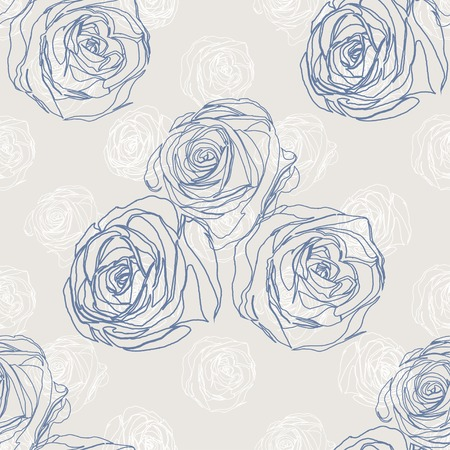 blue roses: Seamless background with blue roses