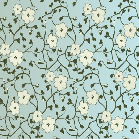 Seamless floral pattern.  Illustration