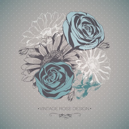 Vector Collection of Hand Drawn Flowers Vector