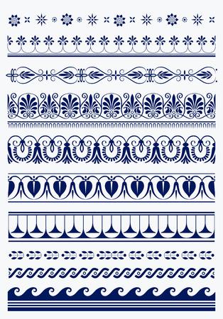 Set of antique greek borders Imagens - 39510598