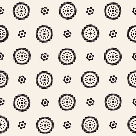 dashed: Abstract seamless pattern with blue circle elements. Ethnic summer texture Illustration