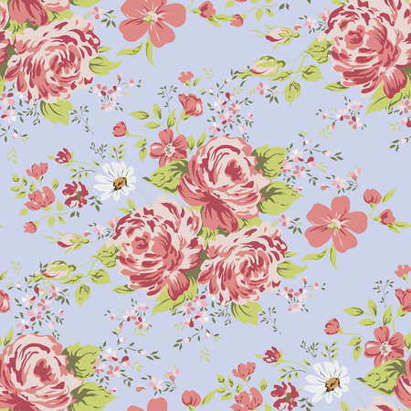 behang naadloze vintage roze bloempatroon.