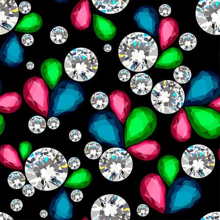 Incroyable motif de diamants. Banque d'images - 42103297