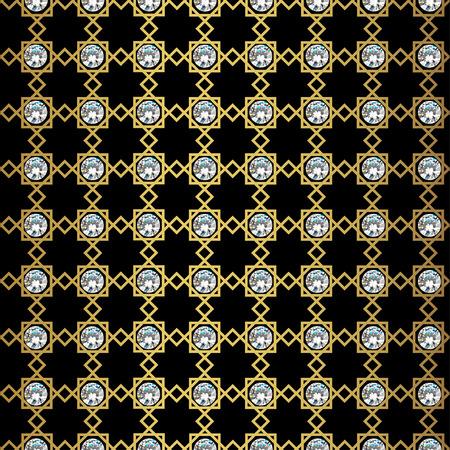 papier peint noir: Motif g�om�trique abstrait transparente. Monochrome papier peint noir. G�om�trie grille d'or texture. La texture de style Vintage. Vector illustration