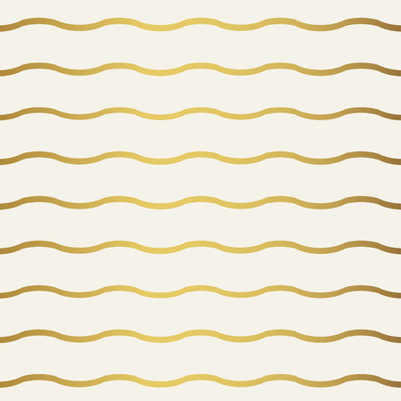white wallpaper: Abstract wave geometric pattern. Monochrome white wallpaper. Geometry gold grid texture. Vector illustration Illustration