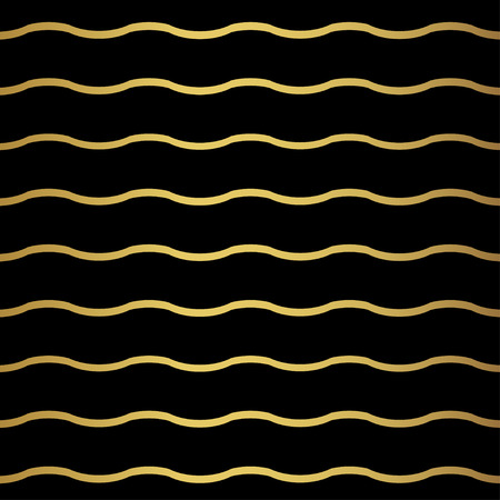 papier peint noir: R�sum� vague motif g�om�trique. Monochrome papier peint noir. G�om�trie grille d'or texture. Vector illustration