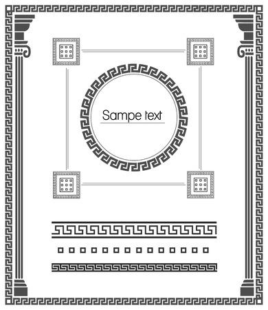 meander: Greek meander decorative elements Illustration