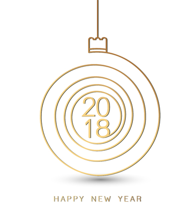 chrstmas: 2018 Merry Chrstmas and Happy New Year Background. Design spiral background for Christmas and the New Year greetings. Vector