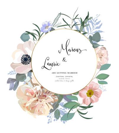 Floral Wedding Invitation.
