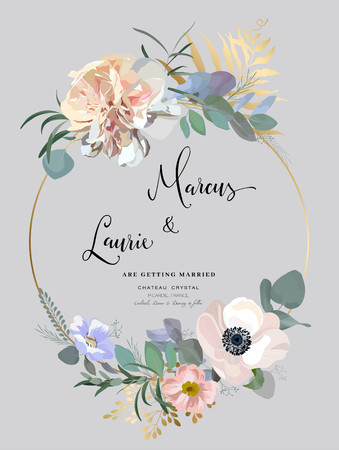 Floral Wedding Invitation.