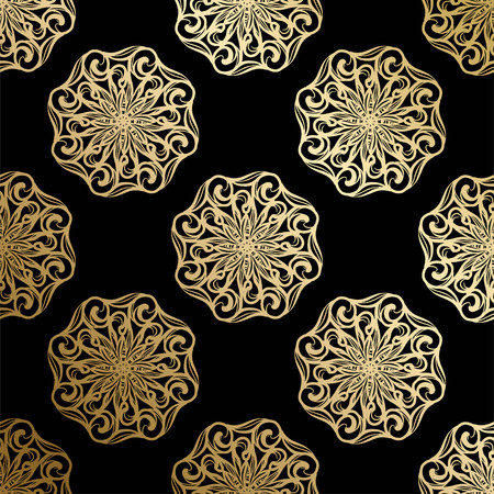 Luxury gold ornament.