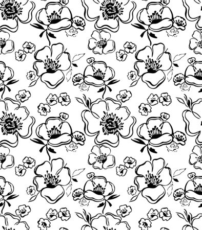 Floral pattern Hand drawn