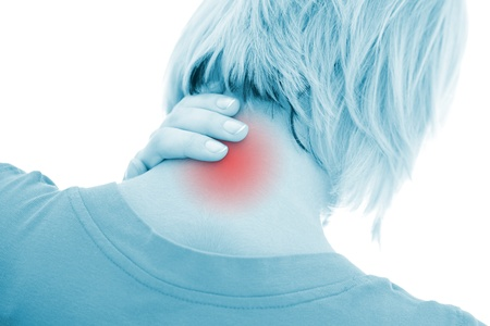 A woman suffering pain on her neck Stock Photo - 9492757