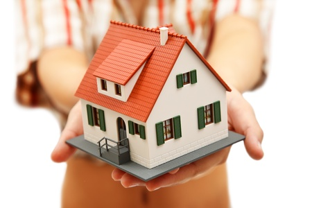 Model house in woman's hand Stock Photo - 9492862