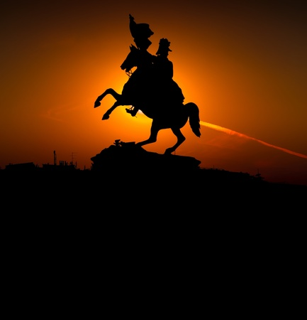 Statue of Erzherzog Karl in Wien, silhouette