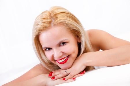 Portrait of a beautiful smiling bonde woman Stock Photo - 16411862