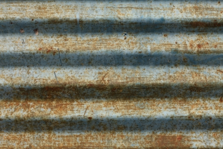 Old, rusted corrugated metal texture with scratches Stock Photo - 23953389
