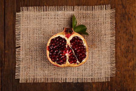 grenadine: Upper view of a half grenadine on a canvas