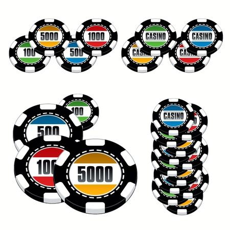 Casino chips set Vector