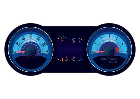 Racing car speedometer Stock Vector - 9728530