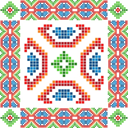 bulgarian: Ethnic abstract ornament