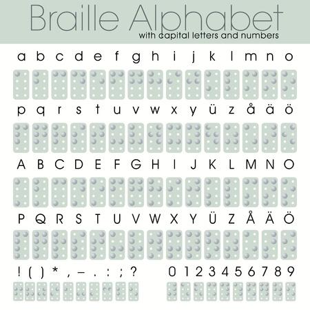 literate: Braille alphabet 8 dot system