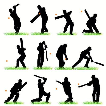 cricket: Set di sagome di cricket