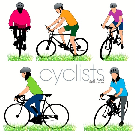 Bikers silhouettes set Stock Vector - 9819971