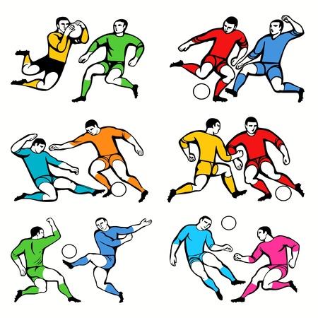 offside: Football players set