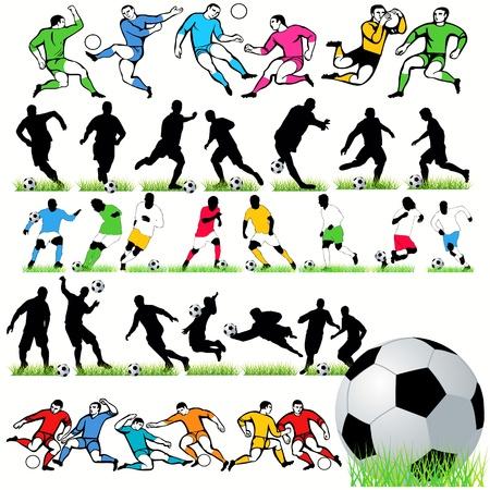 Football players set Stock Vector - 9818062