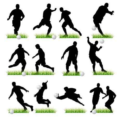 corner kick: Football players set