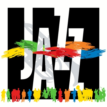 Jazz poster template Vector