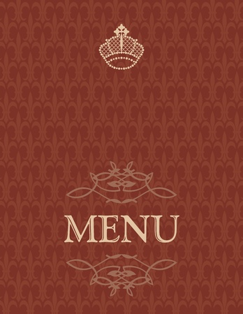 Menu cover design Vector