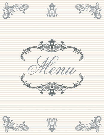 Menu cover design Stock Vector - 9819995