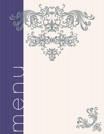 Menu title design Stock Vector - 9818065