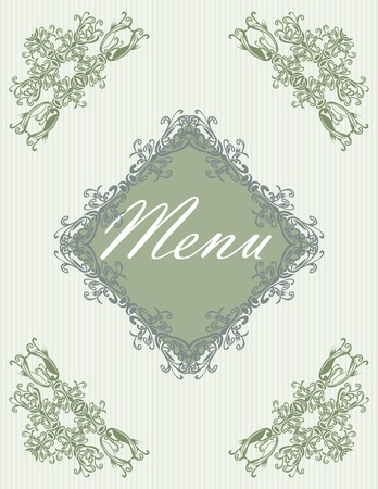 Menu title design Vector