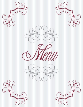 Menu title design Vector