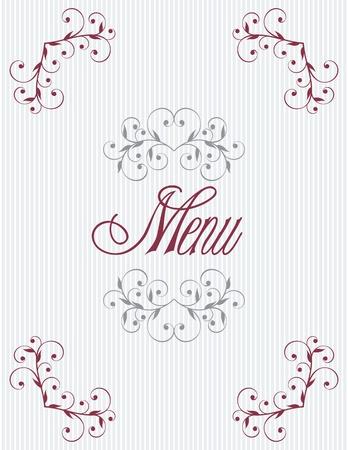 Menu title design Stock Vector - 9818064