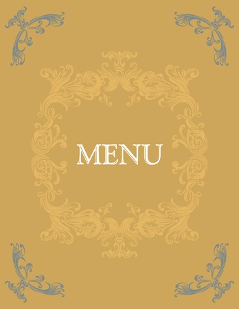Menu title design Stock Vector - 9818075