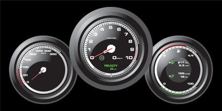 mph: Racing car speedometer