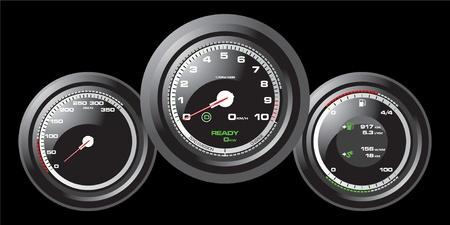 digital thermometer: Tachimetro Auto Racing Vettoriali