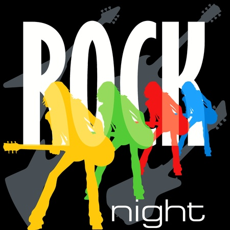 Rock night poster Stock Vector - 9903902